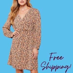 NWT Velvet Heart Leopard Print Long Dress Size M